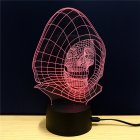 This colorful 3D LED light comes in the shape of the Angel of Death  It supports 2 lighting modes and 7 different colors