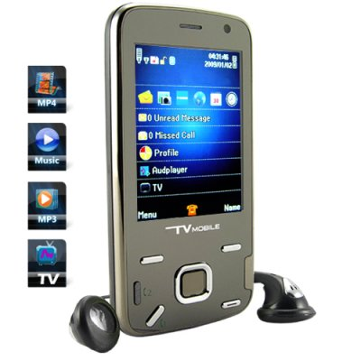 Quadband Dual SIM Touchscreen TV Cellphone w/ Accelerometer