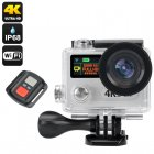 This is a Wi Fi Ultra HD Action Camera Sports Camera that is 30m Waterproof  has a Dual LCD Display  an iOS and Android App  plus a 170 Degree lens and Remote