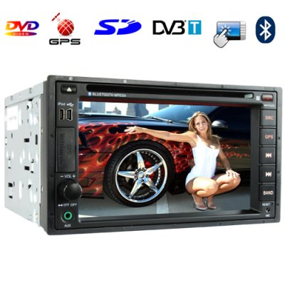 6.2 Inch Car DVD Player (GPS DVBT Dual Zone 2 DIN Touchscreen)