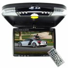 This roof mounted vehicle audio and video system features a high quality DVD player with 9 inch LCD screen  16 9 widescreen   enhanced by excellent com