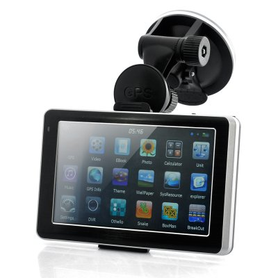 5 Inch Car GPS Navigator with Dash Cam