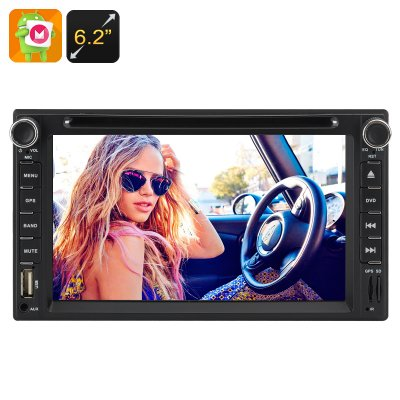 2 DIN 6.2 Inch Touch Screen Car DVD Player