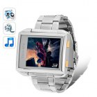 This waterproof MP4 watch does everything  The MP4 Player Watch with 4GB internal memory plays incredible sounding video and audio  is a digital photo frame wit