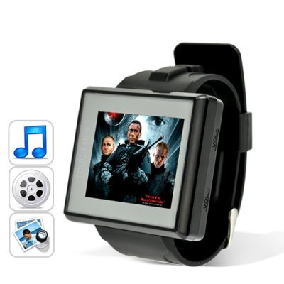 MP4 Player Watch (4GB + Waterproof + 1.8 Inch