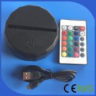 Touch Remote Control 3D Light Base for LED Night Light Colorful Gradient Lamp Black (without Light) Colorful gradient