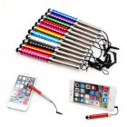 Touch Screen Pen Unique Retractable Capacitive Diamond Stylus for iPhone iPad Tablet PC Random_1 pcs