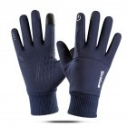 Touch Screen Running Gloves Lightweight Non-slip Warm Villus Gloves Men Women Waterproof Motorcycle Gloves blue_One size