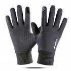 Touch Screen Running Gloves Lightweight Non slip Warm Villus Gloves Men Women Waterproof Motorcycle Gloves gray One size
