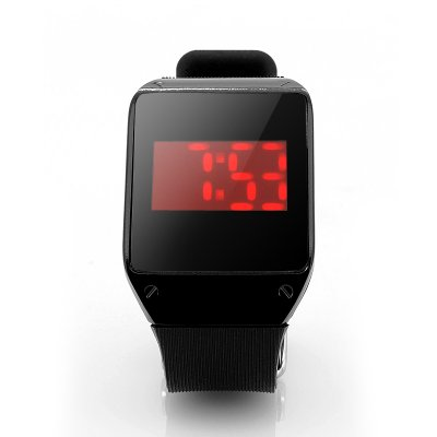 Touch Screen Wrist Watch w/ 28x Red LEDs