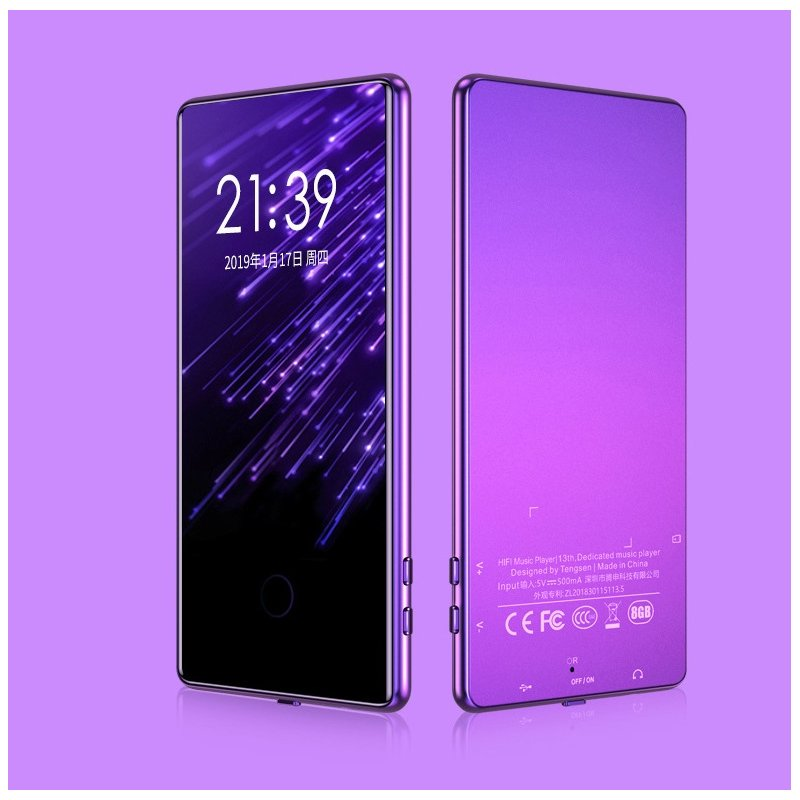 Touch ScreenMP3 Mp4 Player 8G 16G Sports 3.6 Inch Screen HD Lossless Music Player  purple