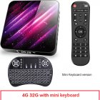 Tp03 Tv  Box H616 Android 10 4+32g D Video 2.4g 5ghz Wifi Bluetooth Smart Tv Box 4+32G_UK plug+I8 Keyboard