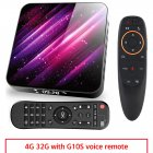 Tp03 Tv  Box H616 Android 10 4+32g D Video 2.4g 5ghz Wifi Bluetooth Smart Tv Box 4+32G_US plug+G10S remote control