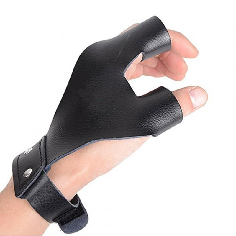 Traditional Bow Shoots Microfiber Hand Protective Gloves Professional Hand Guard black