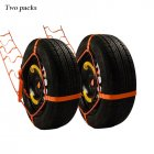 Trailer Belt Snow Skid Muddy Road Generally Vehicle Self-rescue Rope 2 pieces