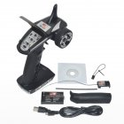 Transmitter FS-GT2E AFHDS 2A 2.4g 2CH Radio System for RC Car Boat with FS-A3 Receiver With lithium batteries black