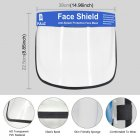 Transparent Face Guard Spittle Prevention Masks Anti-Splash Protective Mask Cooking Face Covers Transparent