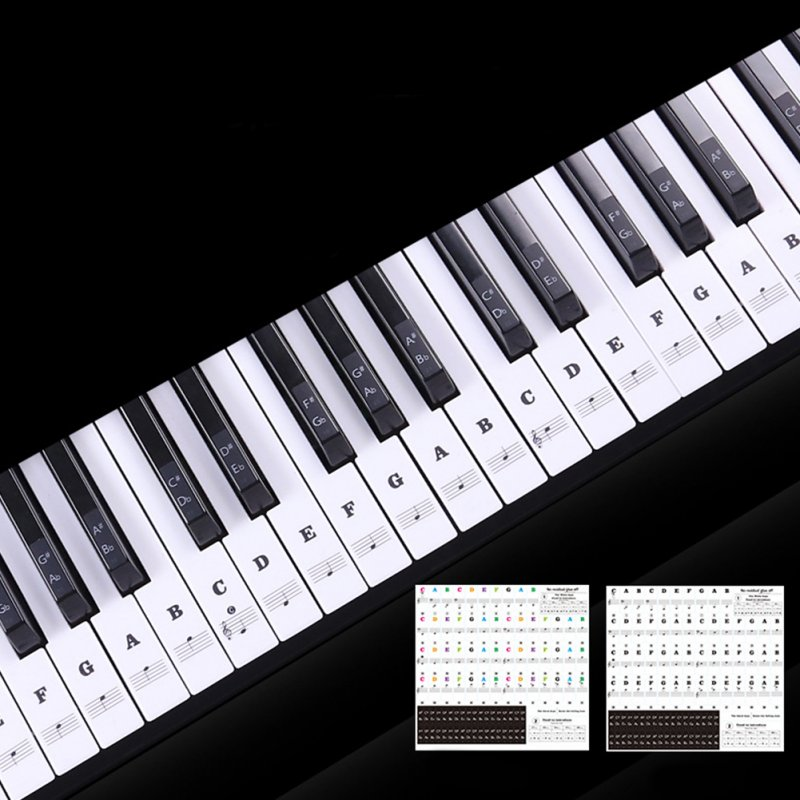Transparent Piano Keyboard Sticker 88 Keys Electronic Keyboard Piano Sticker  Color