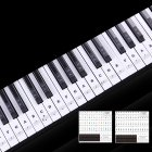 Transparent Piano Keyboard Sticker 88 Keys Electronic Keyboard Piano Sticker  Black