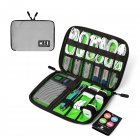 Travel Cable Organizer Portable Electronics Accessories Cases for Hard Drives, Charging Cords, USB Charger light grey
