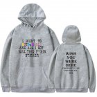 Travis Scotts ASTROWORLD Long Sleeve Printing Hoodie Casual Loose Tops Hooded Sweater A gray L