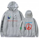 Travis Scotts ASTROWORLD Long Sleeve Printing Hoodie Casual Loose Tops Hooded Sweater E gray_S