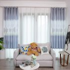 Tree Printing Curtains for Window Drapes Modern Shade Curtain for Living Room Bedroom gray_1 * 2m high hook