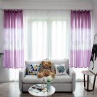Tree Printing Curtains for Window Drapes Modern Shade Curtain for Living Room Bedroom purple_1 * 2m high hook