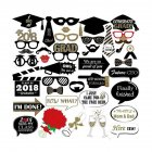 Trencher Cap Paper Photo Props Party Make-up Tools Fancy Dress Ball Festival Mask Face Decoration