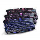 Tri-Color Backlit Computer Gaming Keyboard Teclado USB Powered Game Keyboard for Desktop Laptop tri-color backlit keyboard
