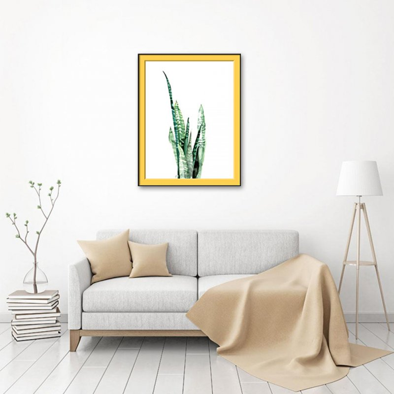 Tropical Green Plant Oil Painting for Living Room Bedroom Wall Decor