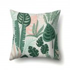 Tropical Plants Leaves Pillowcase Banana Leaf Palm Leaf Cushion Cover Home Decor CCA407(1)