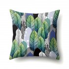 Tropical Plants Leaves Pillowcase Banana Leaf Palm Leaf Cushion Cover Home Decor CCA407(13)