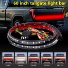 Truck Tailgate Side Bed Light Strip Bar Tuning Signal Light for Truck Off road Vehicles black