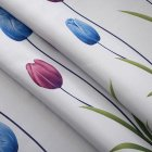 Tulips Pattern Shading Window Curtain for Bedroom Living Room Decoration As shown_1 * 2 meters high