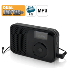 Tune in to the world on the go with this Pocket Digital Radio with Audio Recording  Featuring both FM radio and DAB DAB
