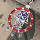 Turkish Blue/Red Eye Hanging Pendant Lucky Charm Wall Blessing Protection Art Home Decor red
