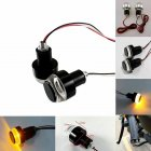 Turn Signals Motorcycle LED Handle Bar End Blinker for 22mm Handlebar Amber Grip Plug Signal Light Flashing Handle Bar 1 pair