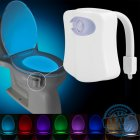 Turn your toilet into a nightlight with this LED toilet light that lets you select between 8 different colors