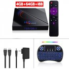 Tv Box Android 10.0 H96 Max H616 Media Player Dual Frequency Wifi Smart  Tv  Box 4+64g 4+64G_Australian plug+I8 Keyboard