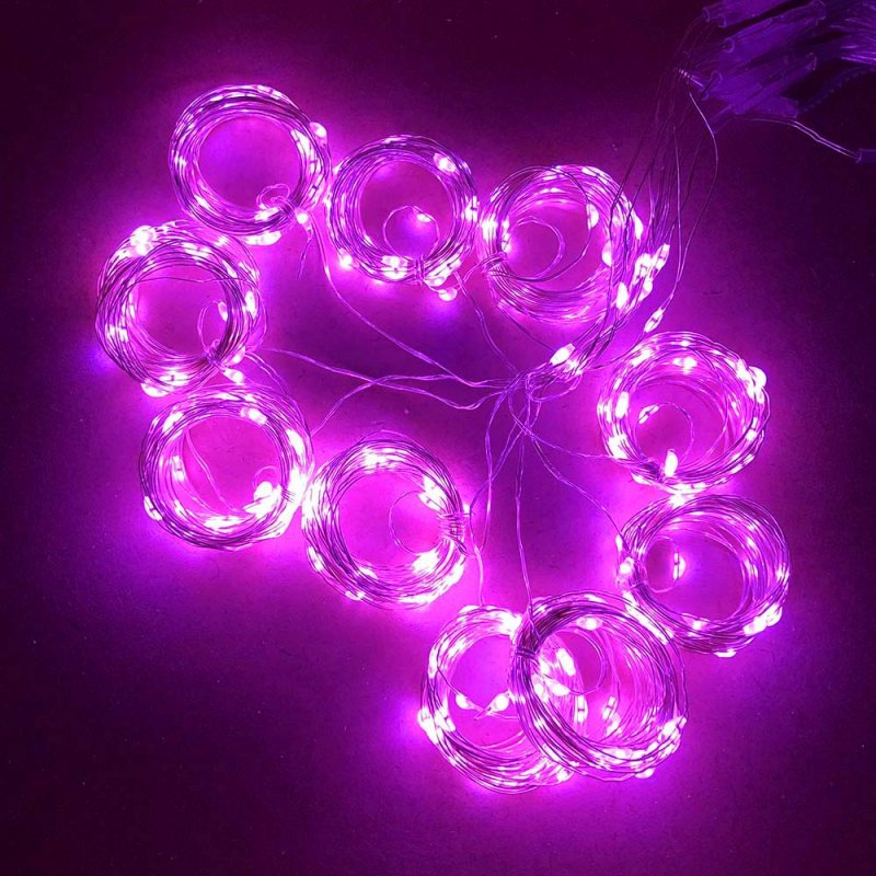 Twinkle Star 300 LED Window Curtain String Light Wedding Party Home Wall Decorations, Warm White Pink
