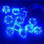 Twinkle Star 300 LED Window Curtain String Light Wedding Party Home Wall Decorations, Warm White blue
