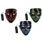 Twister.CK 2PCS LED Masks Halloween Scary Masks Cosplay LED Costume Masks Set EL Wire Light up Novelty Masks for Halloween Festival Party