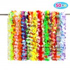 Twister.CK 50PCS Tropical Hawaiian Luau Flower Lei Party Favors Supplies Decorations Toy Set