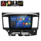 Two DIN Car entertainment system specifically designed to fit the Mitsubishi Lancer  Android 5 1 1 OS lets you play games and watch movies on the go