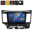Two DIN Car entertainment system for Mitsubishi Lancer 2007 to 2016  Android 9 0 1 OS   GPS navigation for entertainment and directions on the road