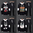 Two-piece Sweater Suits Long Sleeves Hoodie+Drawstring Pants Sports Wear for Man 2#_M