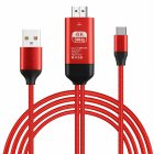 Type-C USB-C to HDMI HDTV 4K Cable Adapter Type-c to HDMI HD Converter red