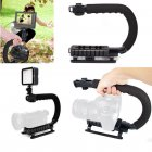 U shape Handheld Bracket Handle Grip Stabilizer for Canon DSLR Camera Camcorder Video black