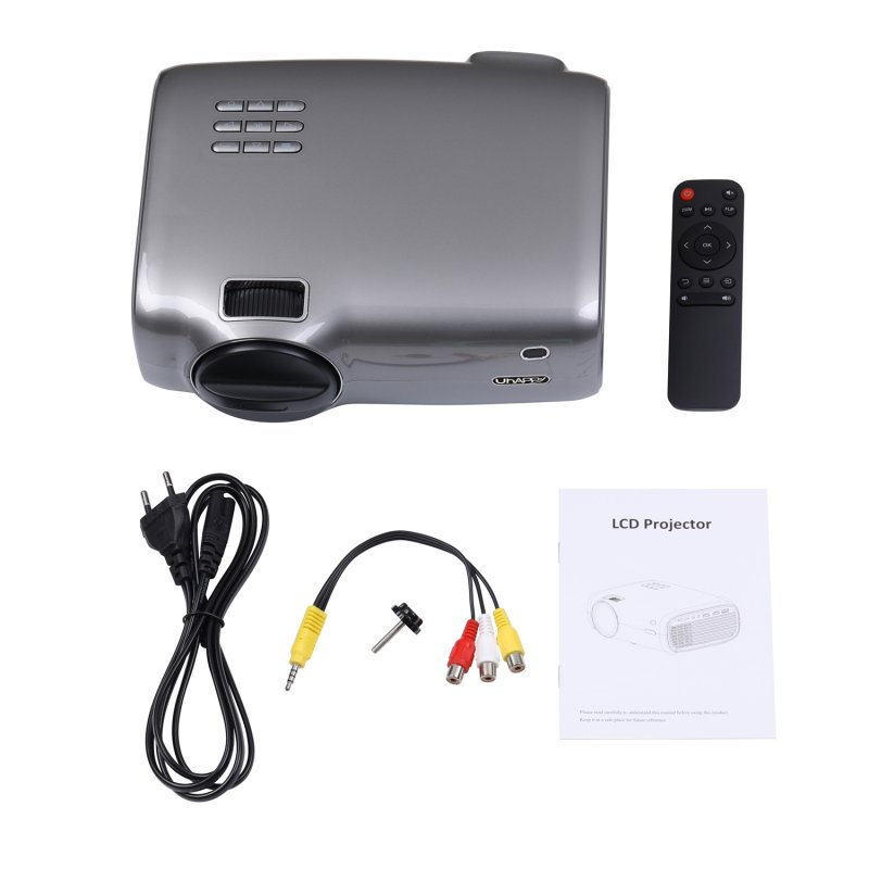 U43 Mini Projector Portable Home Theater Watching Movie Entertainment Projector Supports 1080P HD Projector  British regulations